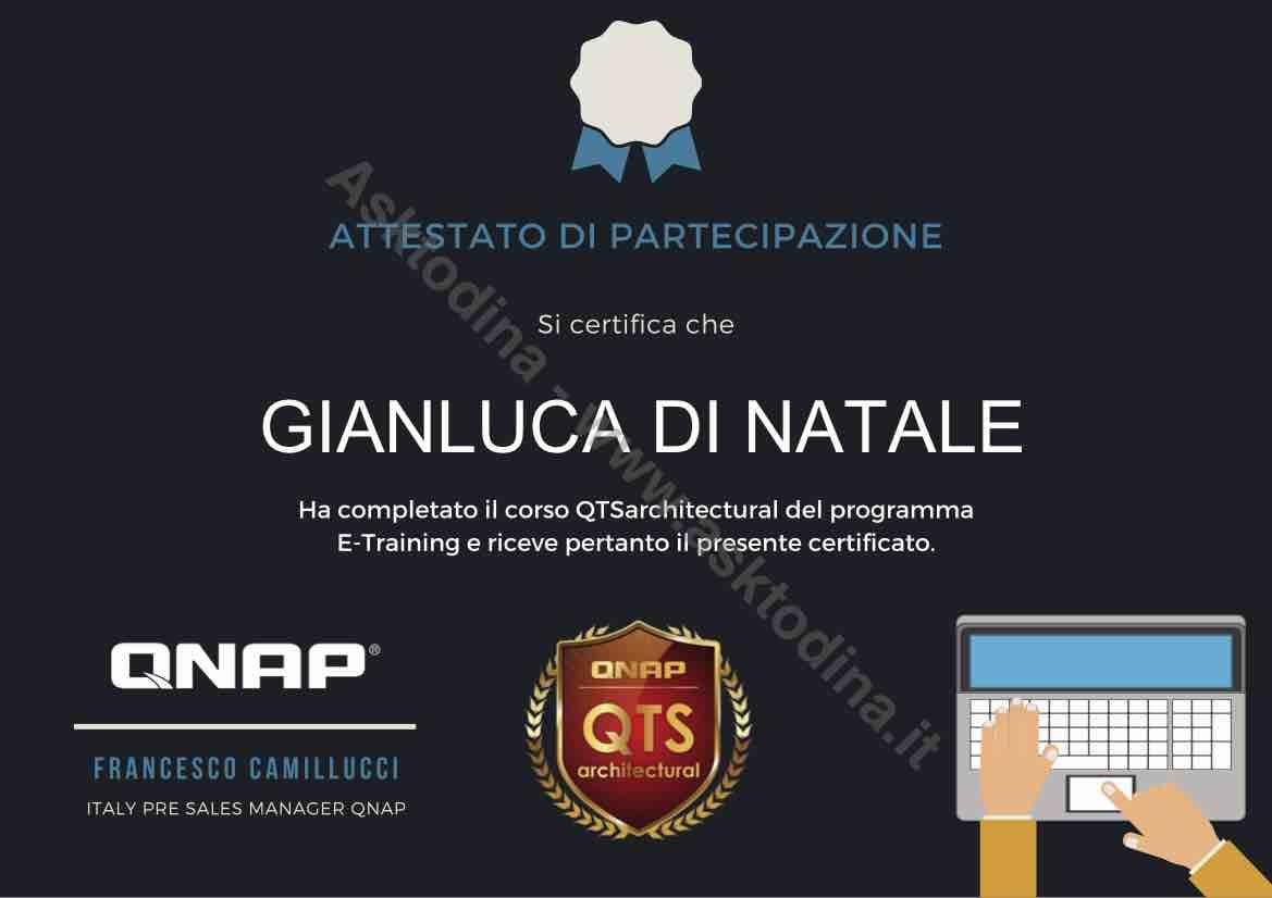 certificazioni qnap gianluca di natale