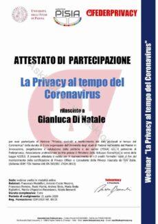 certificazioni privacy gianluca di natale